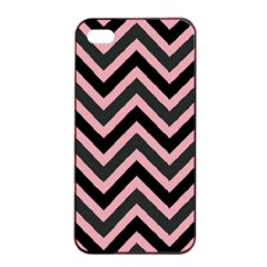Zigzag Pattern Apple Iphone 4/4s Seamless Case (black) by Valentinaart