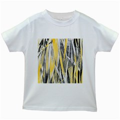 Abstraction Kids White T Shirts by Valentinaart