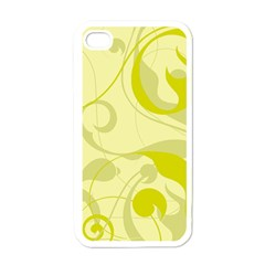 Floral Pattern Apple Iphone 4 Case (white) by Valentinaart