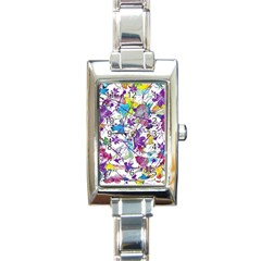Lilac Lillys Rectangle Italian Charm Watch