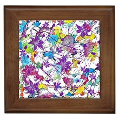 Lilac Lillys Framed Tiles