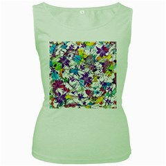 Lilac Lillys Women s Green Tank Top