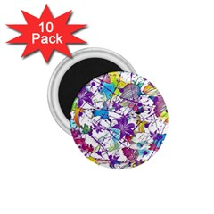Lilac Lillys 1 75  Magnets (10 Pack)  by designworld65