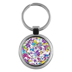 Lilac Lillys Key Chains (round)