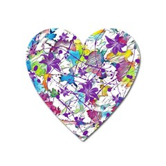 Lilac Lillys Heart Magnet