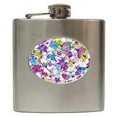 Lilac Lillys Hip Flask (6 Oz) by designworld65