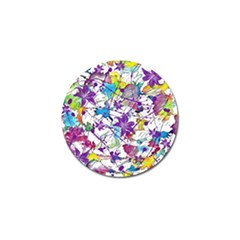 Lilac Lillys Golf Ball Marker