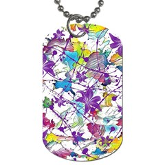 Lilac Lillys Dog Tag (two Sides) by designworld65