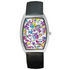 Lilac Lillys Barrel Style Metal Watch by designworld65