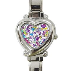 Lilac Lillys Heart Italian Charm Watch by designworld65