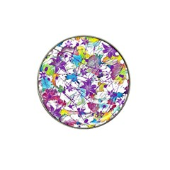 Lilac Lillys Hat Clip Ball Marker (4 Pack) by designworld65
