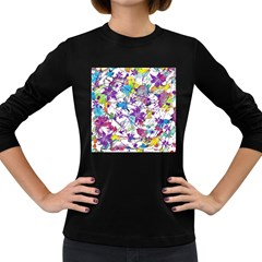 Lilac Lillys Women s Long Sleeve Dark T Shirts