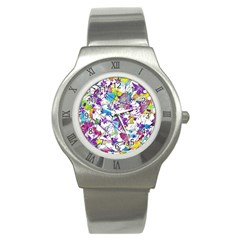 Lilac Lillys Stainless Steel Watch by designworld65
