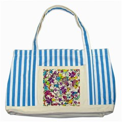 Lilac Lillys Striped Blue Tote Bag