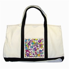 Lilac Lillys Two Tone Tote Bag by designworld65