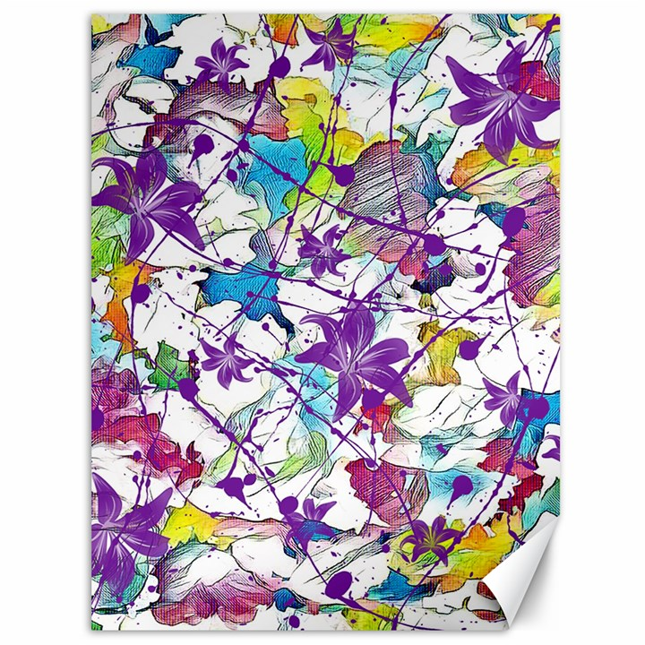 Lilac Lillys Canvas 36  x 48