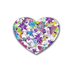 Lilac Lillys Rubber Coaster (heart)