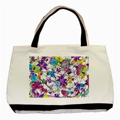 Lilac Lillys Basic Tote Bag (two Sides) by designworld65