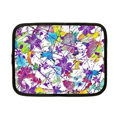 Lilac Lillys Netbook Case (small)  by designworld65