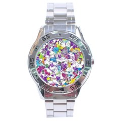 Lilac Lillys Stainless Steel Analogue Watch