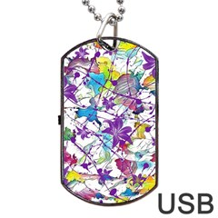 Lilac Lillys Dog Tag Usb Flash (two Sides)