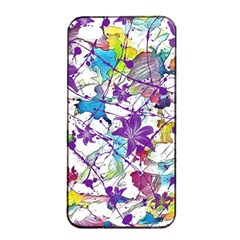 Lilac Lillys Apple Iphone 4/4s Seamless Case (black)