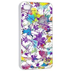 Lilac Lillys Apple Iphone 4/4s Seamless Case (white) by designworld65