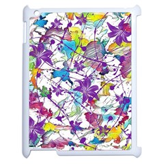 Lilac Lillys Apple Ipad 2 Case (white) by designworld65