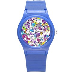 Lilac Lillys Round Plastic Sport Watch (s) by designworld65
