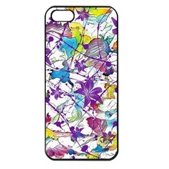 Lilac Lillys Apple Iphone 5 Seamless Case (black)