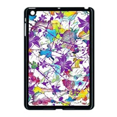 Lilac Lillys Apple Ipad Mini Case (black) by designworld65
