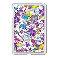 Lilac Lillys Apple Ipad Mini Case (white) by designworld65