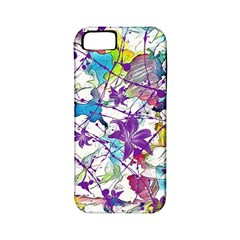 Lilac Lillys Apple Iphone 5 Classic Hardshell Case (pc+silicone)