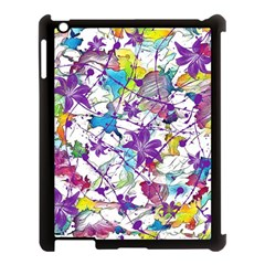 Lilac Lillys Apple Ipad 3/4 Case (black) by designworld65