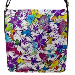 Lilac Lillys Flap Messenger Bag (s) by designworld65