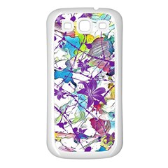 Lilac Lillys Samsung Galaxy S3 Back Case (white)