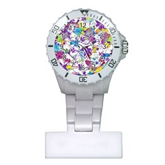 Lilac Lillys Plastic Nurses Watch