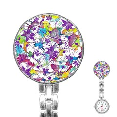 Lilac Lillys Stainless Steel Nurses Watch