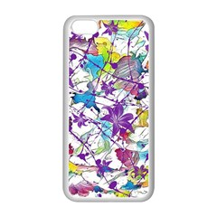 Lilac Lillys Apple Iphone 5c Seamless Case (white) by designworld65