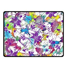 Lilac Lillys Double Sided Fleece Blanket (small)  by designworld65