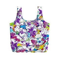 Lilac Lillys Full Print Recycle Bags (m)  by designworld65