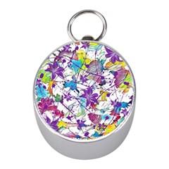 Lilac Lillys Mini Silver Compasses