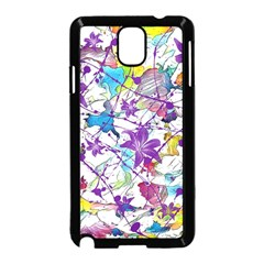 Lilac Lillys Samsung Galaxy Note 3 Neo Hardshell Case (black)