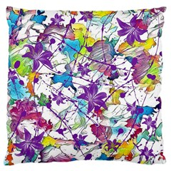Lilac Lillys Large Flano Cushion Case (two Sides)