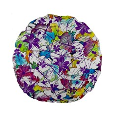 Lilac Lillys Standard 15  Premium Flano Round Cushions