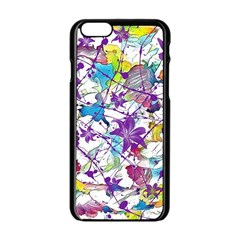 Lilac Lillys Apple Iphone 6/6s Black Enamel Case
