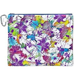 Lilac Lillys Canvas Cosmetic Bag (xxxl) by designworld65