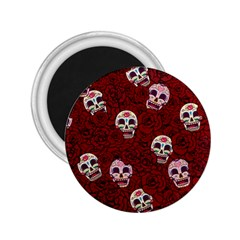 Funny Skull Rosebed 2 25  Magnets