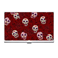 Funny Skull Rosebed Business Card Holders