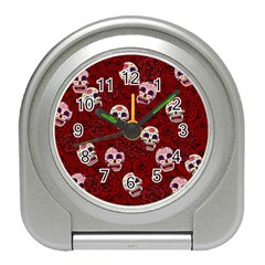 Funny Skull Rosebed Travel Alarm Clocks